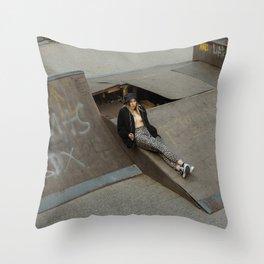 Cement Jungle Throw Pillow