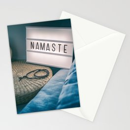 Namaste Yoga Class Meditation Stationery Cards