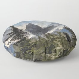 The Three Sisters - Canadian Rocky Mountains Floor Pillow