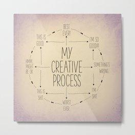 My Creative Process Metal Print