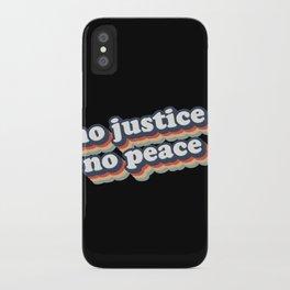 No Justice No Peace BLM 2020 iPhone Case