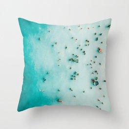 Aerial Beach Print, Beach Photography, Aerial Photography, Blue Ocean Print, Beach Print, Ocean Print, Ocean Waves, Beach Art, Home Decor Throw Pillow