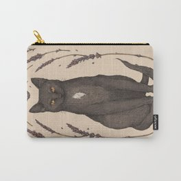 The Cat and Lavender Carry-All Pouch