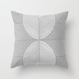 Soft Grey Tropical Leaves Throw Pillow
