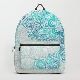 Turquoise Lace Mandala Backpack