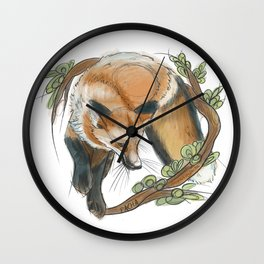 Jumping fox Wall Clock