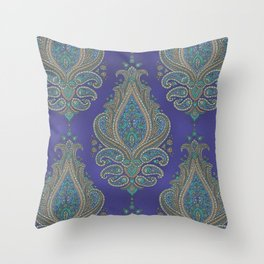 paisley in cinnamon Throw Pillow