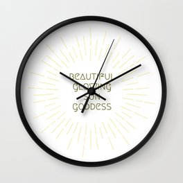 Beautiful Glowing Sun Goddess Wall Clock