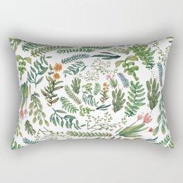 circular new white garden Rectangular Pillow