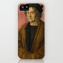 Albrecht Dürer - Portrait of Dürer's Father at 70 iPhone Case