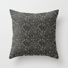 Gray Hematite Close-Up Crystal Throw Pillow