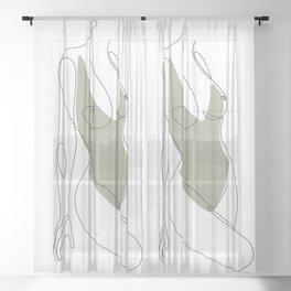 Matcha Nude Sheer Curtain