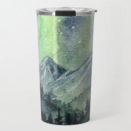 Northern Lights Magic Mountains Travel Mug