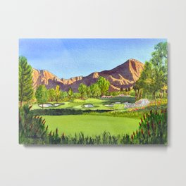 Indian Wells Golf Resort Celebrity Course Hole 16 Metal Print