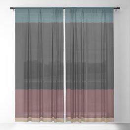 Contemporary Color Block XII Sheer Curtain