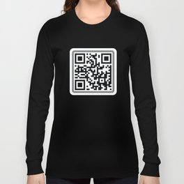 Andy Spanjer Design QR Code Long Sleeve T-shirt