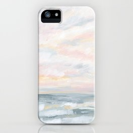 You Are My Sunshine - Gray Pastel Ocean Seascape iPhone Case