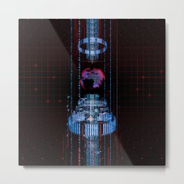 Virtual Data Earth Metal Print