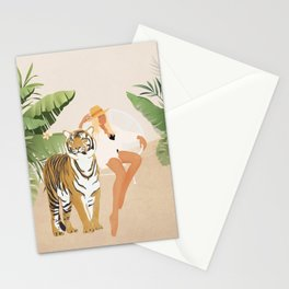 The Lady and the Tiger Stationery Cards