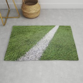 Sideline football field, Sideline chalk mark artificial grass soccer field Rug