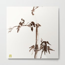 Japanese Birds Metal Print