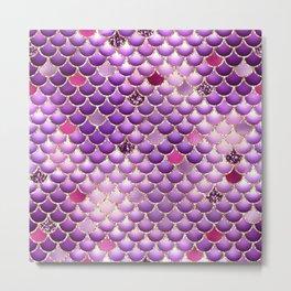 Purple Mermaid Scales Metal Print