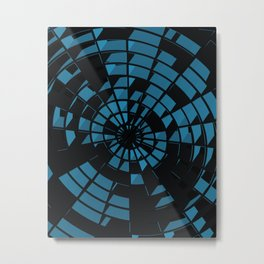 Abstract Dartboard Metal Print