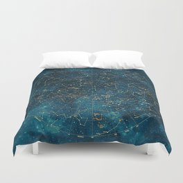 Under Constellations Duvet Cover