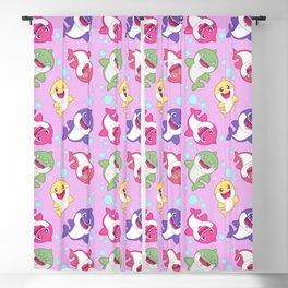 Baby Shark Doo Doo Family - Pink Pastel Version Print Blackout Curtain