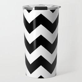 Heart & Chevron - Black/Green Travel Mug