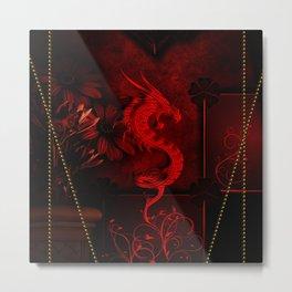 Wonderful red chinese dragon Metal Print