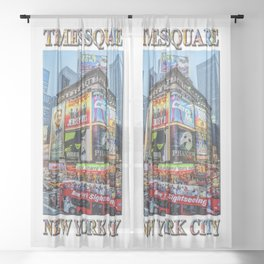 Times Square II Special Edition II Sheer Curtain