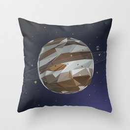 Jupiter in Low Poly Style Throw Pillow