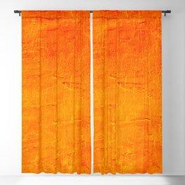 Orange Sunset Textured Acrylic Painting Blackout Curtain