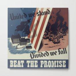 Vintage poster - United We Stand Metal Print