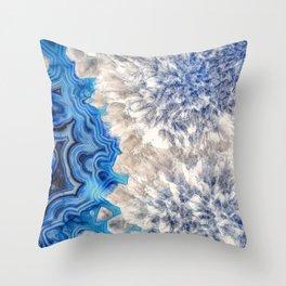 Blue sea ice agate 2990 Throw Pillow