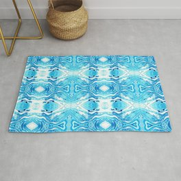 Opposing Hearts Turquoise Rug