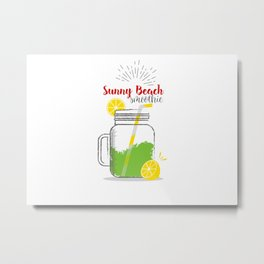 Sunny Beach: Summer, sun, sea & smoothies Metal Print