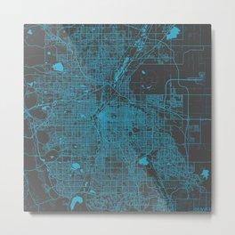 Denver map Metal Print