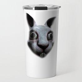 Creepy Rabbit Face Travel Mug