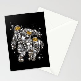 Wild Rugby Astronauts Fights For Victory Stationery Cards