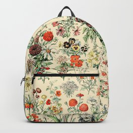 Wildflower Diagram // Fleurs II by Adolphe Millot XL 19th Century Science Textbook Artwork Backpack