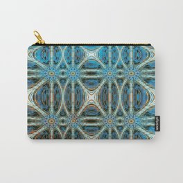 Turquoise Weave Carry-All Pouch