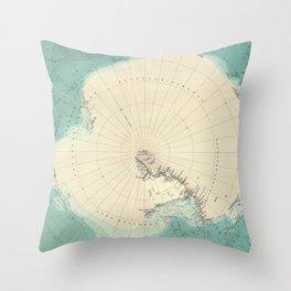 Vintage Map of Antarctica (1922) Throw Pillow