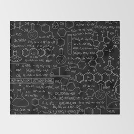 Chemistry Pattern Throw Blanket