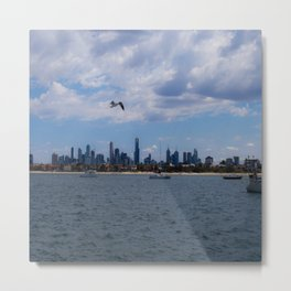 Melbourne Cityscape From St Kilda Metal Print