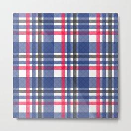 Navy & red tartan plaid Metal Print