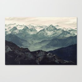 Mountain Fog Canvas Print