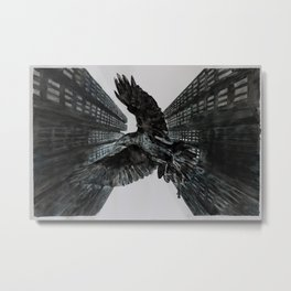 We Are the Birds of State and Fire Feather Metal Print