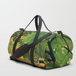 "Henri Rousseau ""Monkeys in the jungle - Exotic landscape"" Duffle Bag"